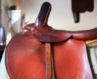 show western english side saddle leather