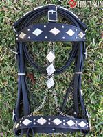 195-F WESTERN HORSE HAND-MADE PARADE SHOW BRIDLE HEADSTALL REINS