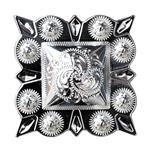 HILASON GERMAN SILVER 1.5 INCH BERRY SQUARE CONCHOS COWGIRL HEADSTALLS TACK