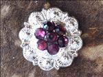 CRYSTAL AMETHYST BERRY CONCHO RHINESTONE HEADSTALL SADDLE TACK BLING COWGIRL