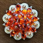 050HYC ORANGE CRYSTALS BERRY CONCHO RHINESTONE HEADSTALL SADDLE COWGIRL