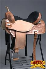 HILASON FLEX-TREE BARREL RACING TRAIL RIDING WESTERN SADDLE